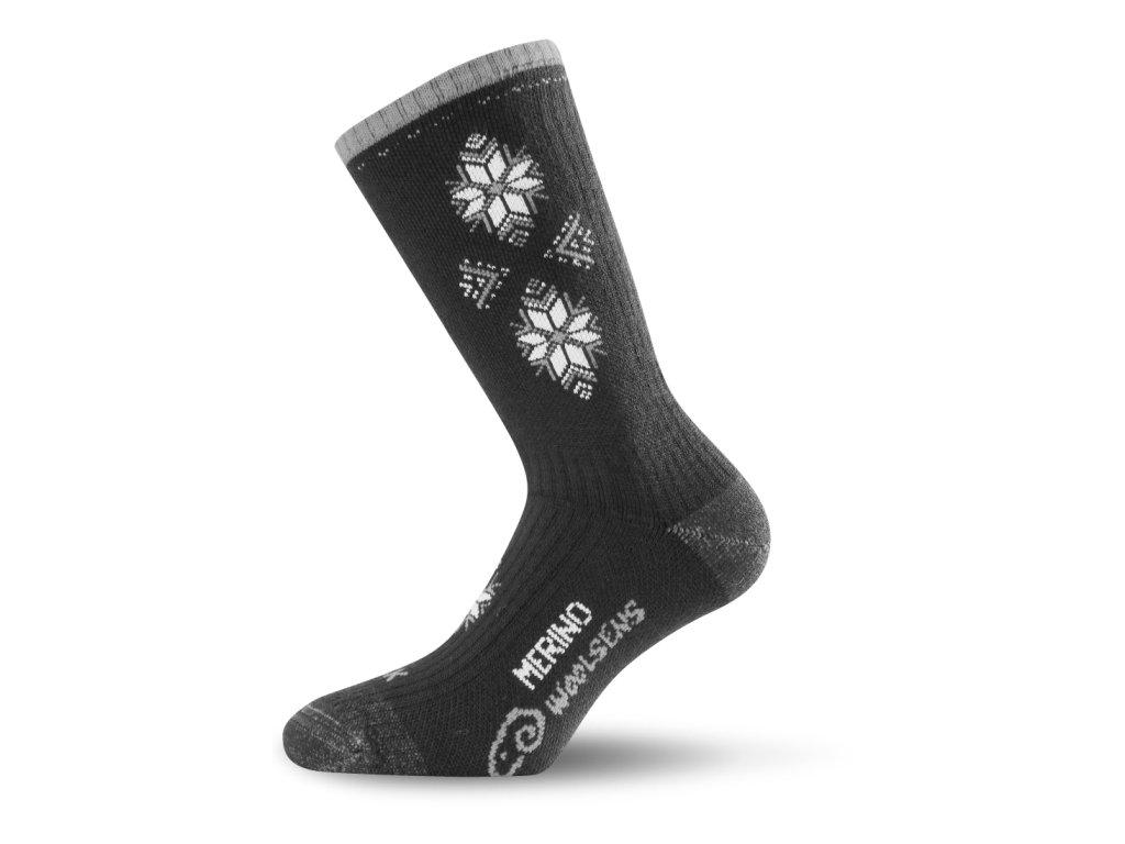 Lasting merino lyžařské ponožky SCK černé