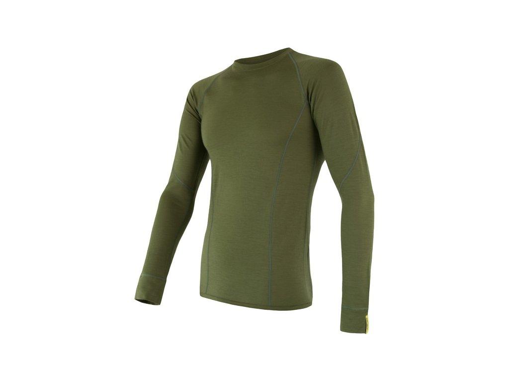 SENSOR MERINO ACTIVE pánské triko dl.rukáv safari