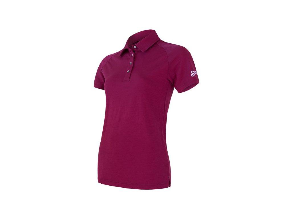 SENSOR MERINO ACTIVE POLO dámské tričko