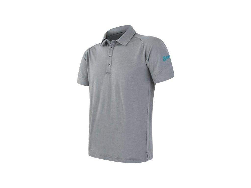 SENSOR MERINO ACTIVE POLO pánské tričko