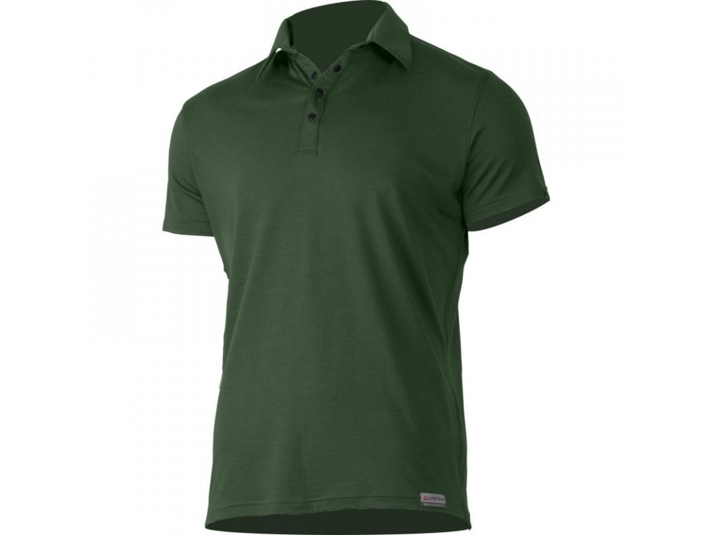 Lasting pánská merino polo košile ELIOT zelená
