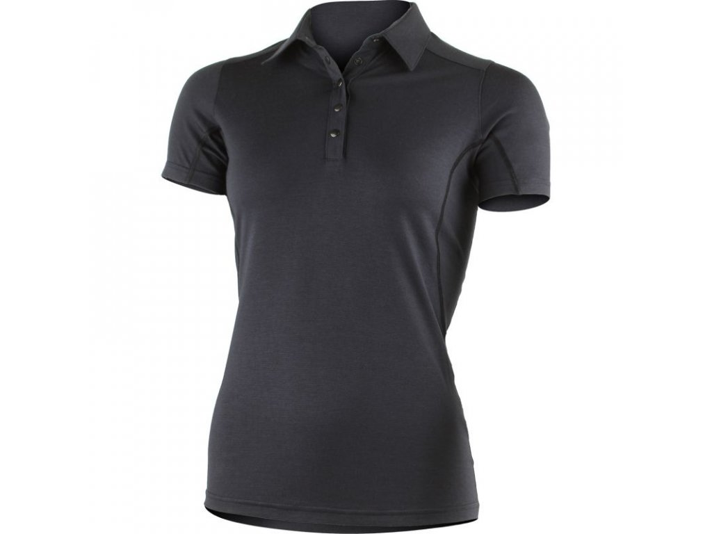 Lasting dámská merino polo košile ERIKA černá