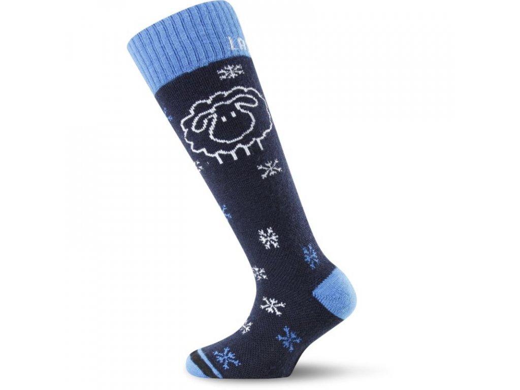 Lasting dětské merino lyžařské ponožky SJW černé