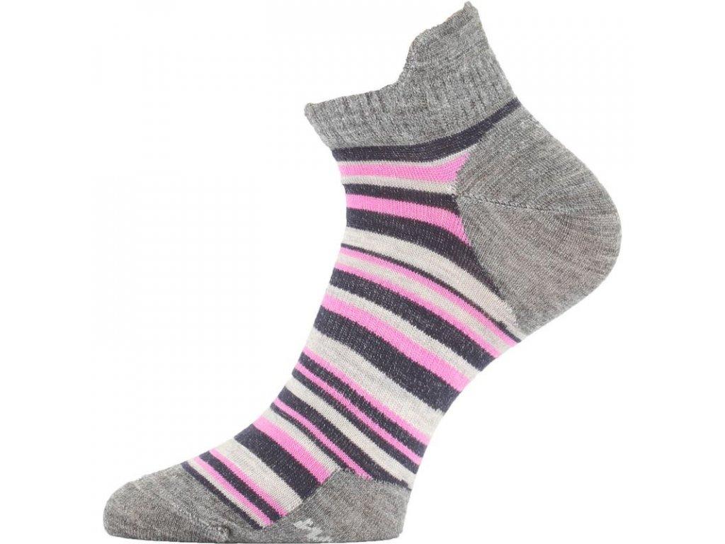Lasting dámské merino ponožky WWS růžové