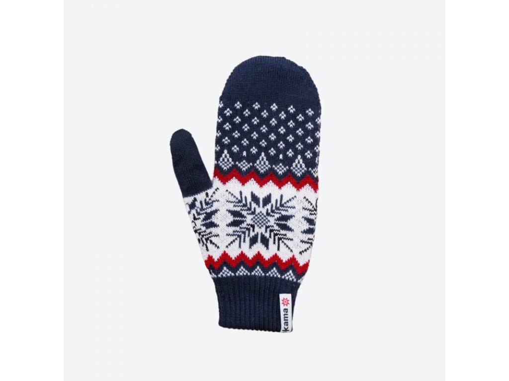Pletené Merino rukavice Kama R109, barva modrá
