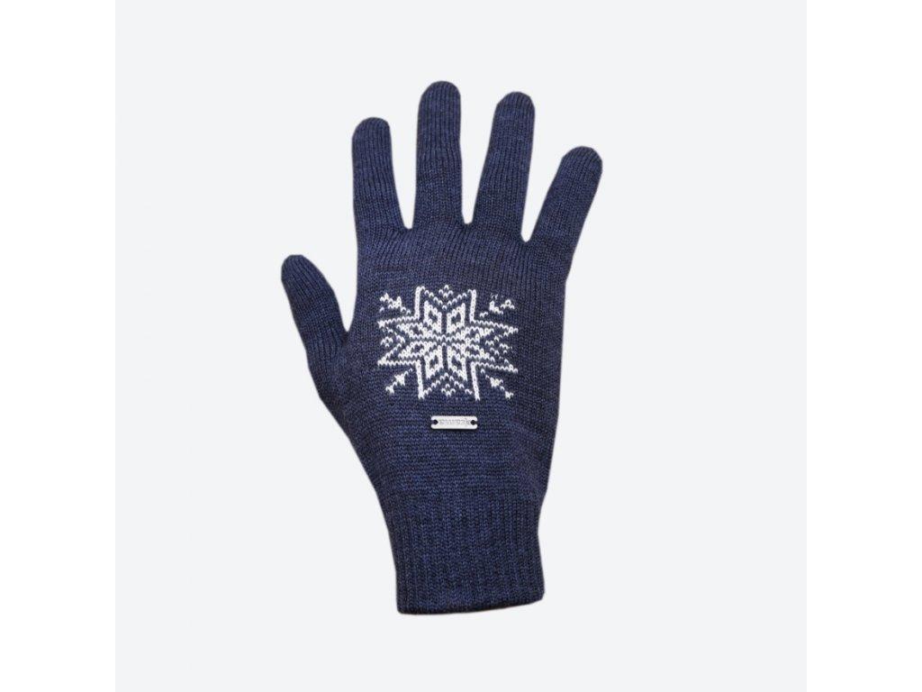 Pletené Merino rukavice Kama R104, modrá