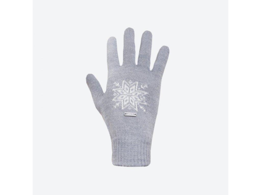 Pletené Merino rukavice Kama R104, barva šedá