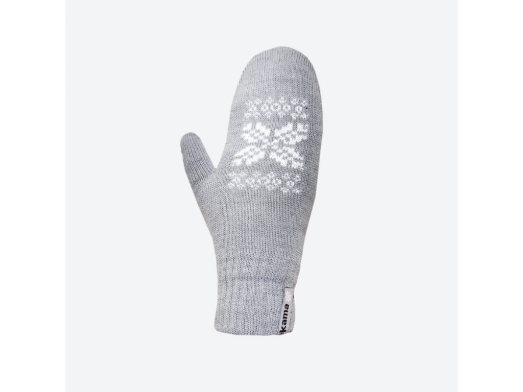 Pletené Merino rukavice Kama R106, barva šedá