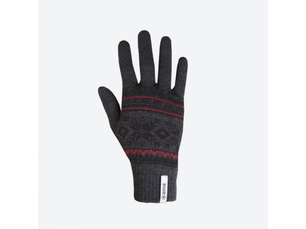 Pletené Merino rukavice Kama R108, šedá