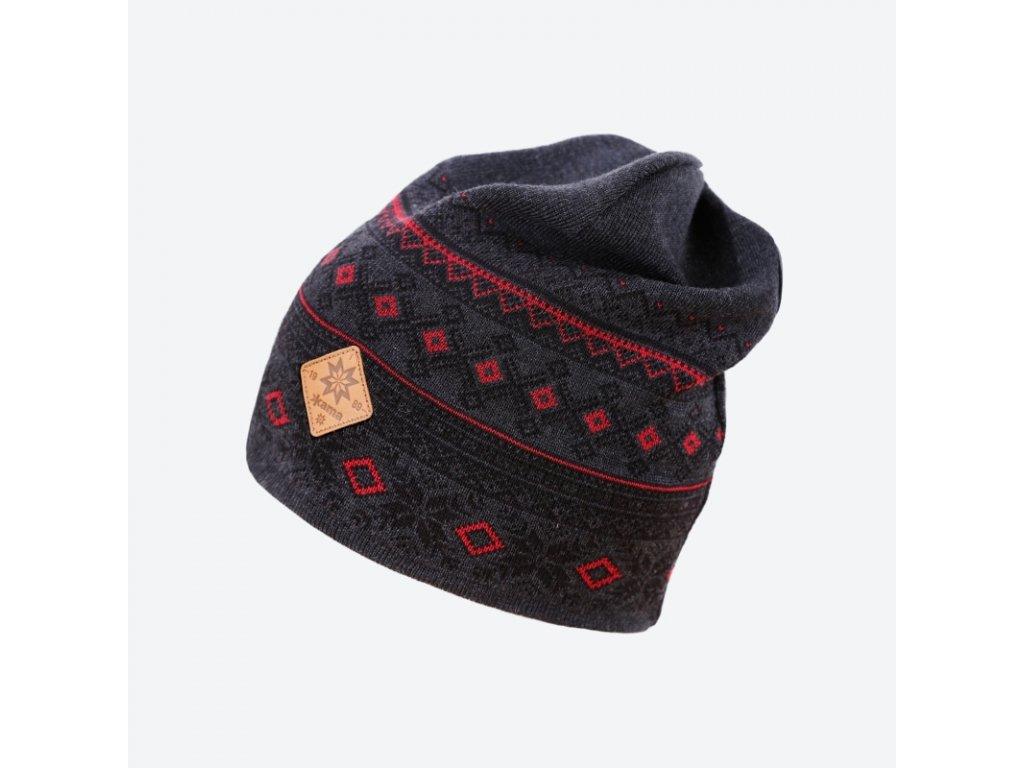 Pletená Merino čepice Kama A143, šedá