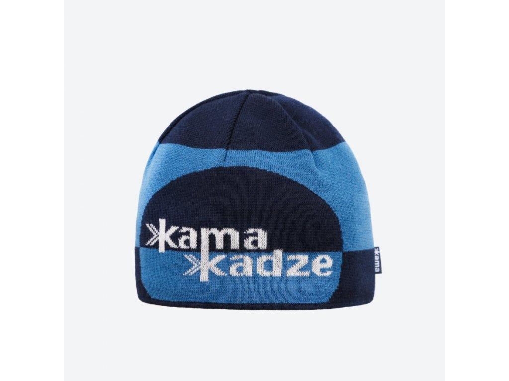 Pletená Merino čepice Kama K62, modrá