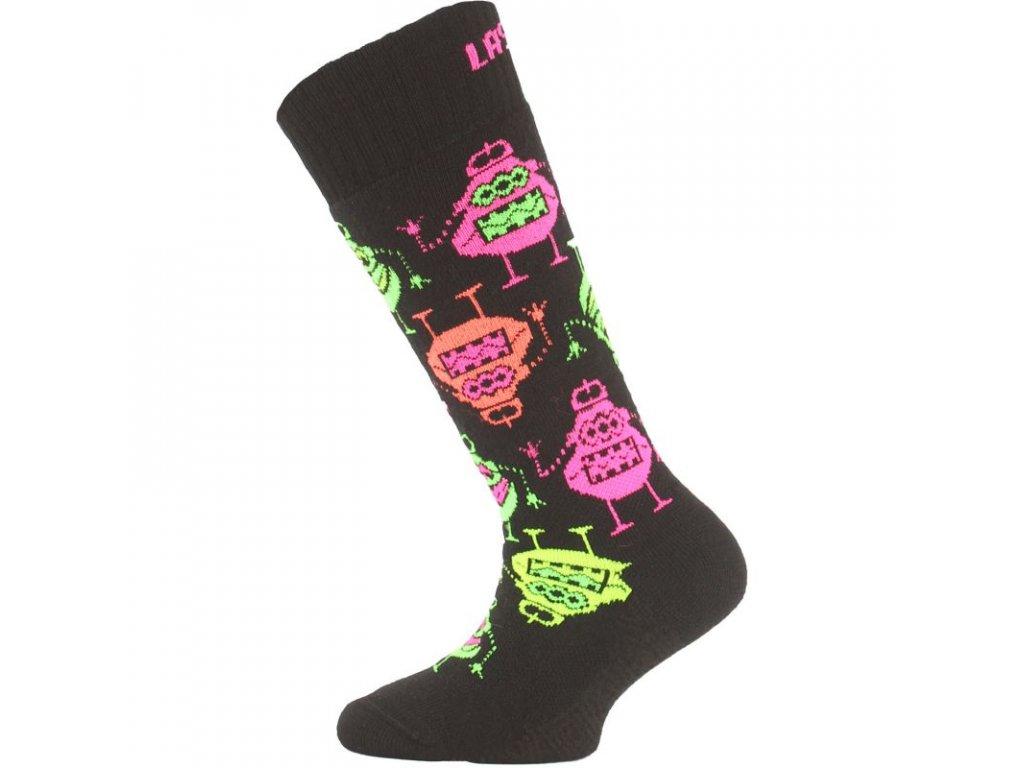 Lasting dětské merino lyžařské ponožky SJE černé
