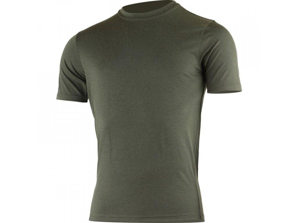 Lasting pánské merino triko LAMAR zelené