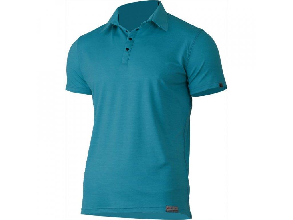 Lasting pánská merino polo košile ELIOT modrá