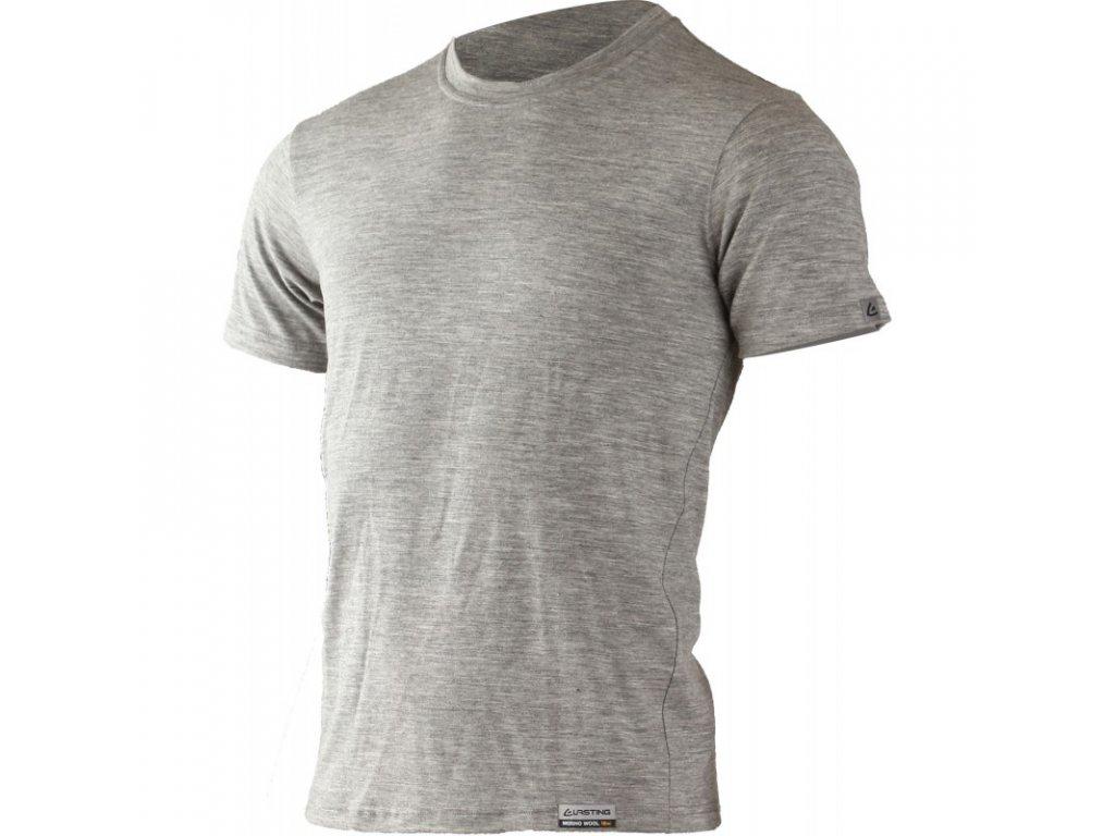 Lasting pánské merino triko LAMAR šedé
