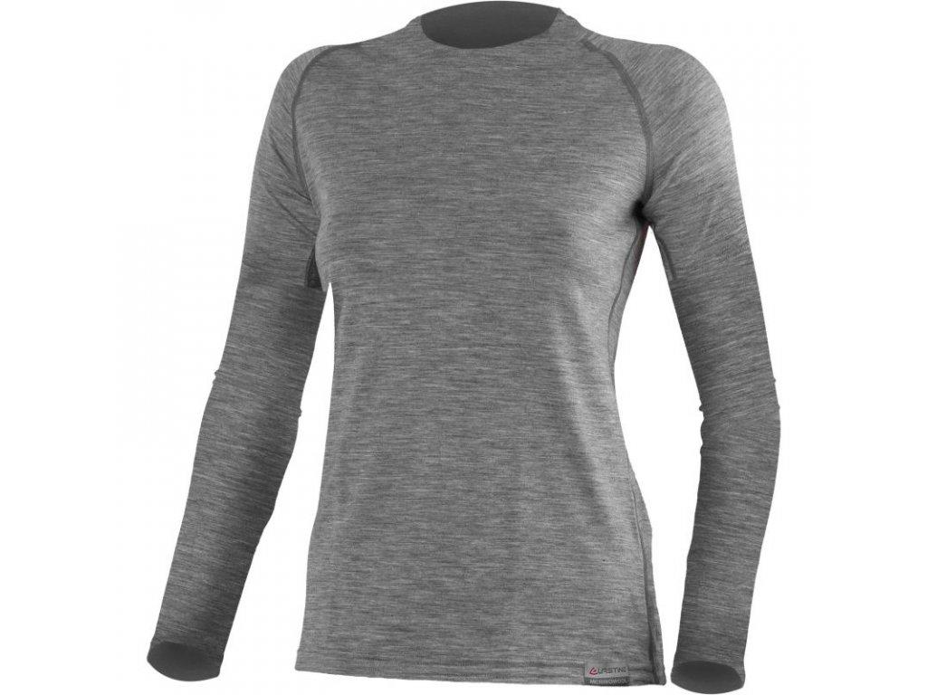 Lasting dámské merino triko ATILA šedé