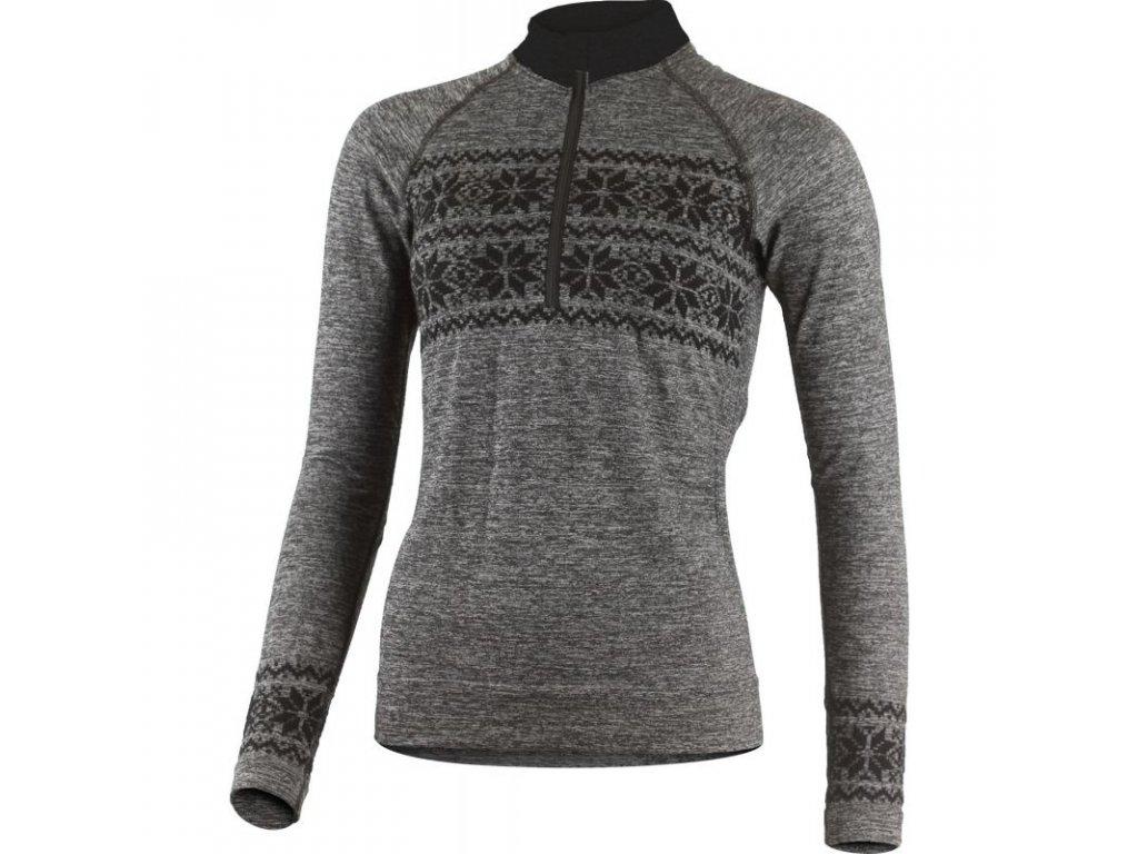 Lasting dámské merino bezešvé triko WIRA šedé