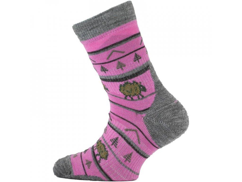 Lasting dětské merino ponožky TJL růžové