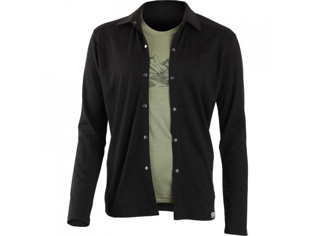 Lasting pánská merino košile EDGAR černá