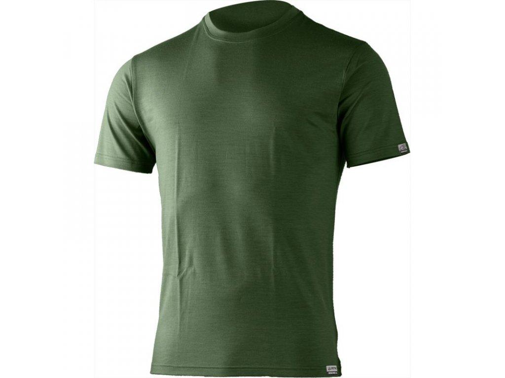 Lasting pánské merino triko CHUAN zelené