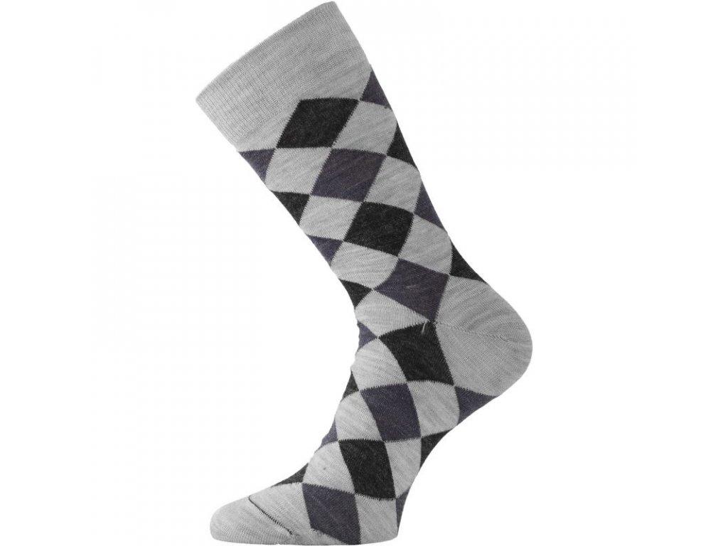 Lasting merino ponožky WPK šedé