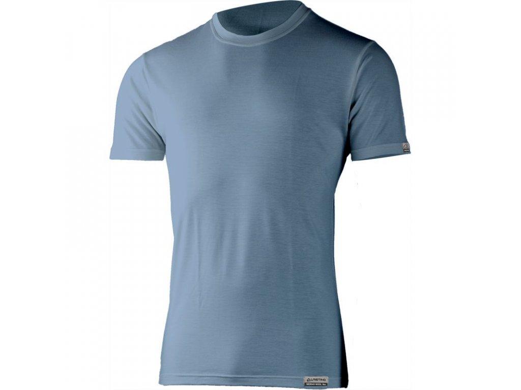 Lasting pánské merino triko JOHN modré