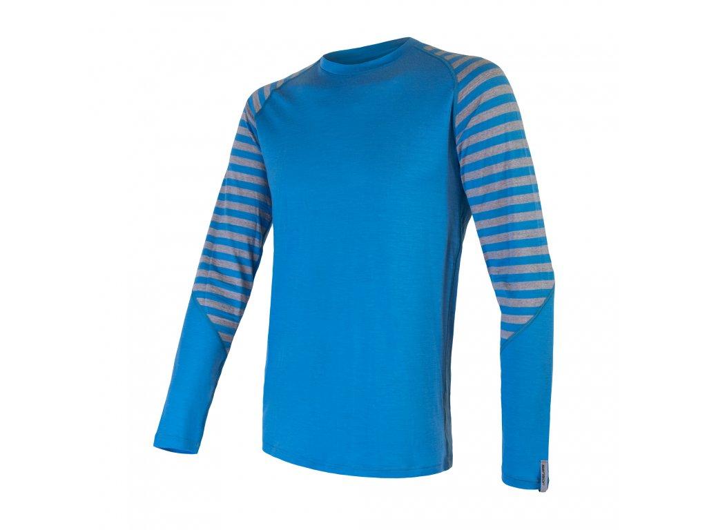 SENSOR MERINO ACTIVE pánské triko s pruhy