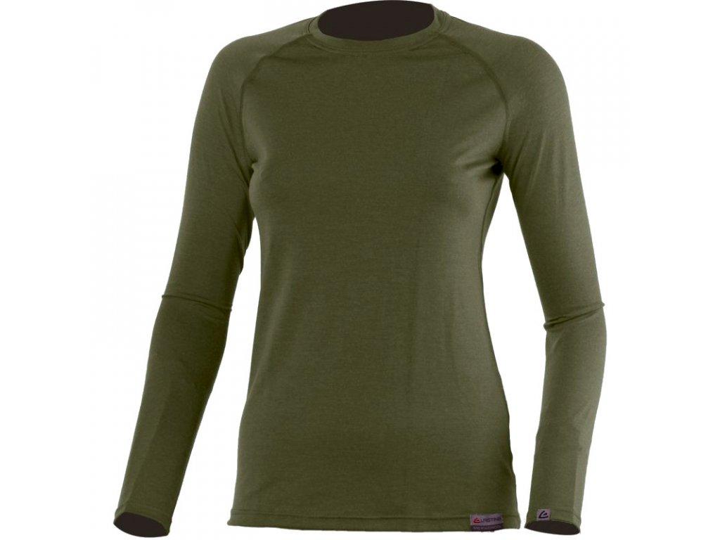 lasting damske merino triko atila zelene 6363