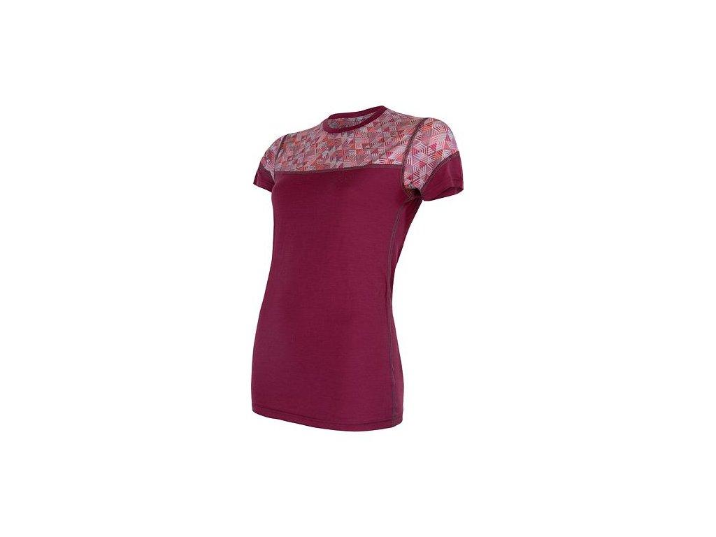 SENSOR MERINO IMPRESS dámské tričko