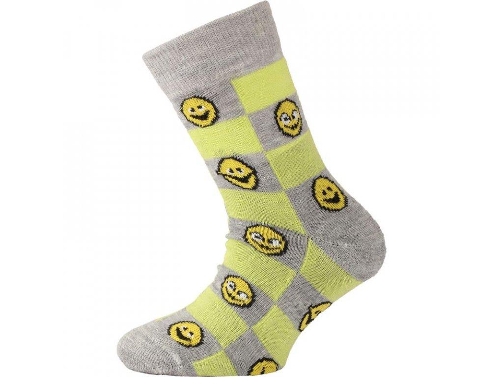 lasting detske merino ponozky tje zlute 861