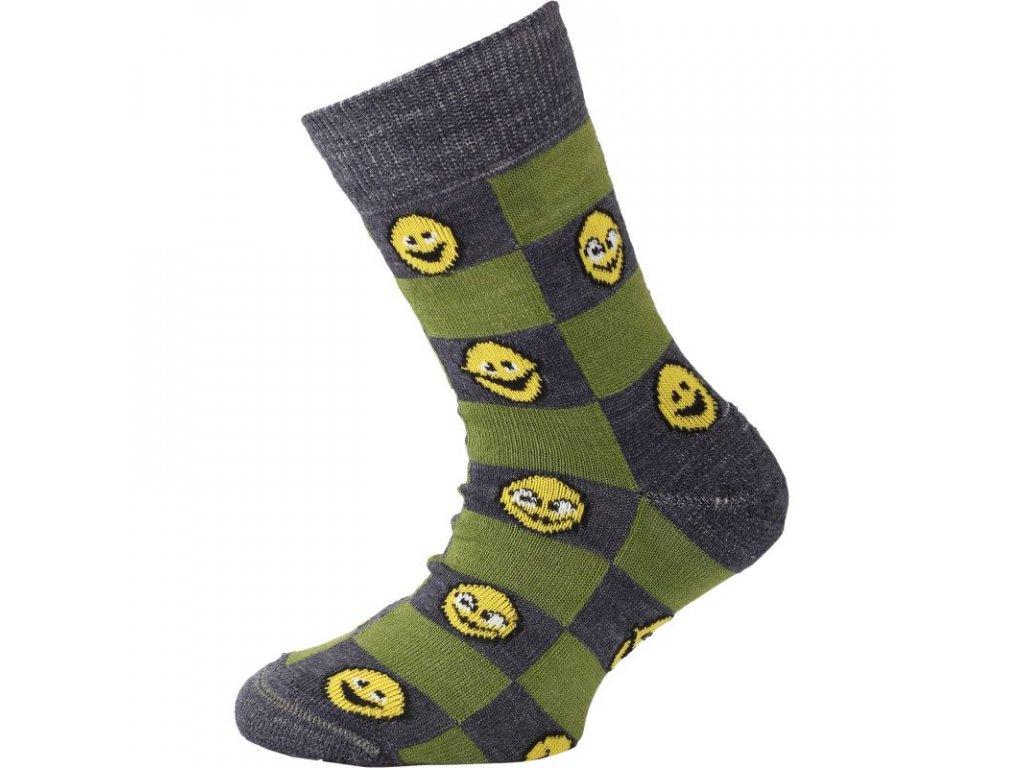 lasting detske merino ponozky tje zelene 869