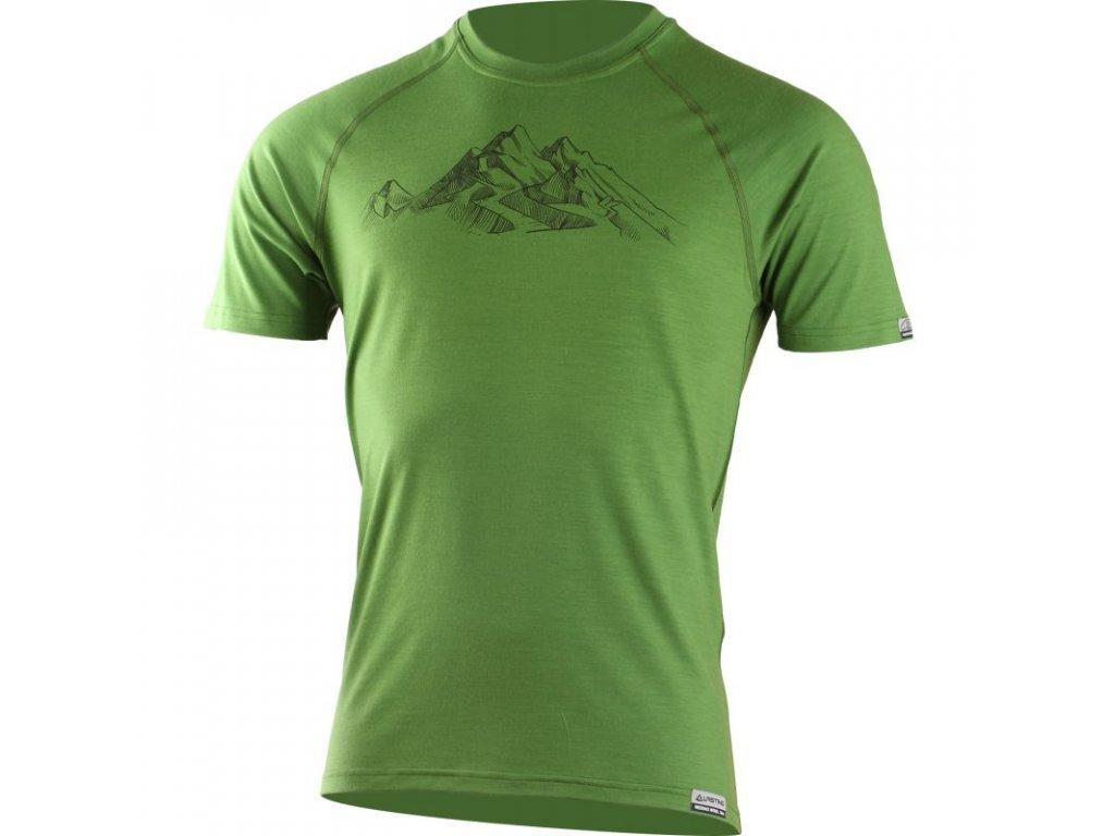 lasting panske merino triko s tiskem hill zelene 6060