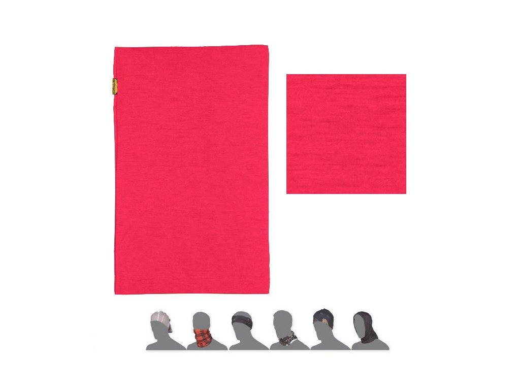 SENSOR TUBE MERINO WOOL multifunkční šátek magenta