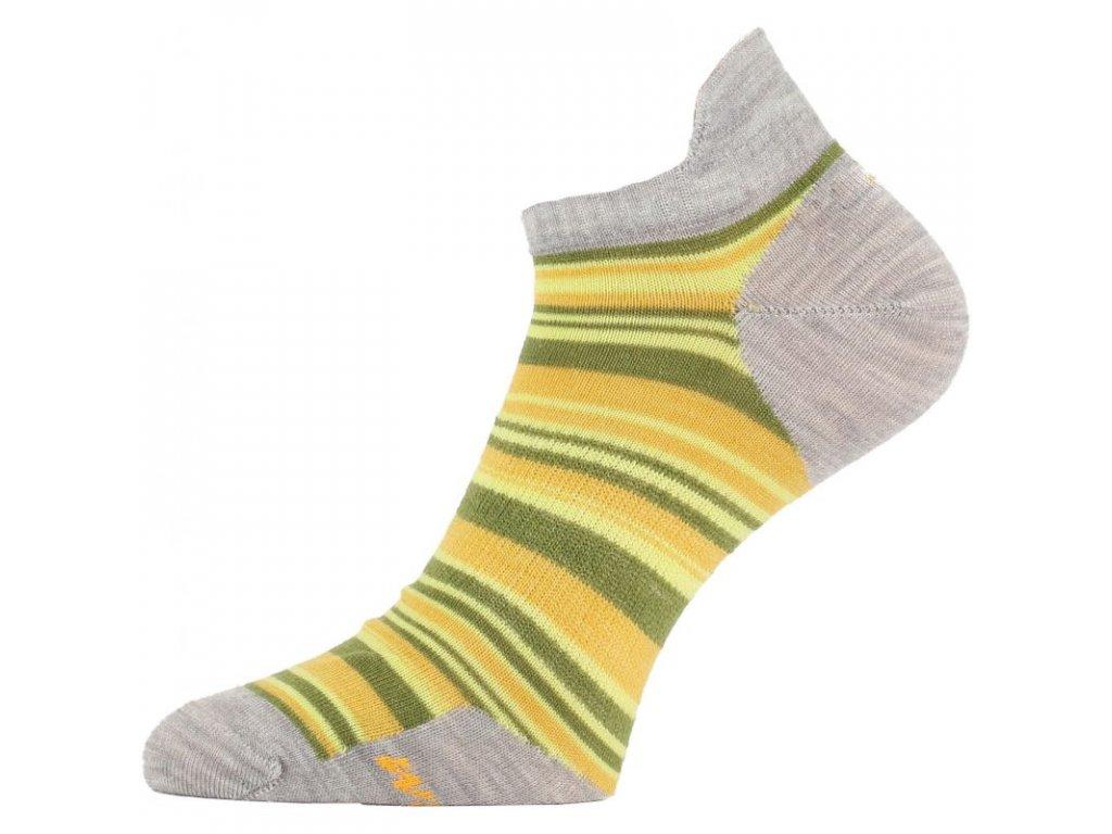 lasting damske merino ponozky wws zlute 806
