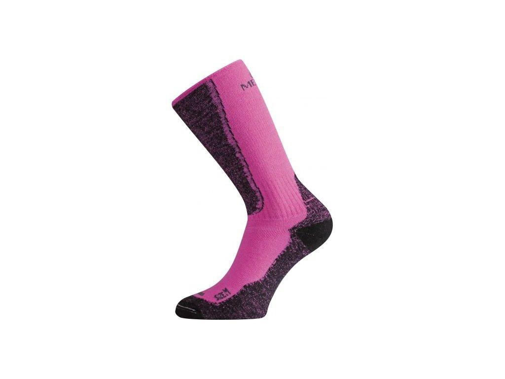 lasting merino ponozky wsm ruzove 489