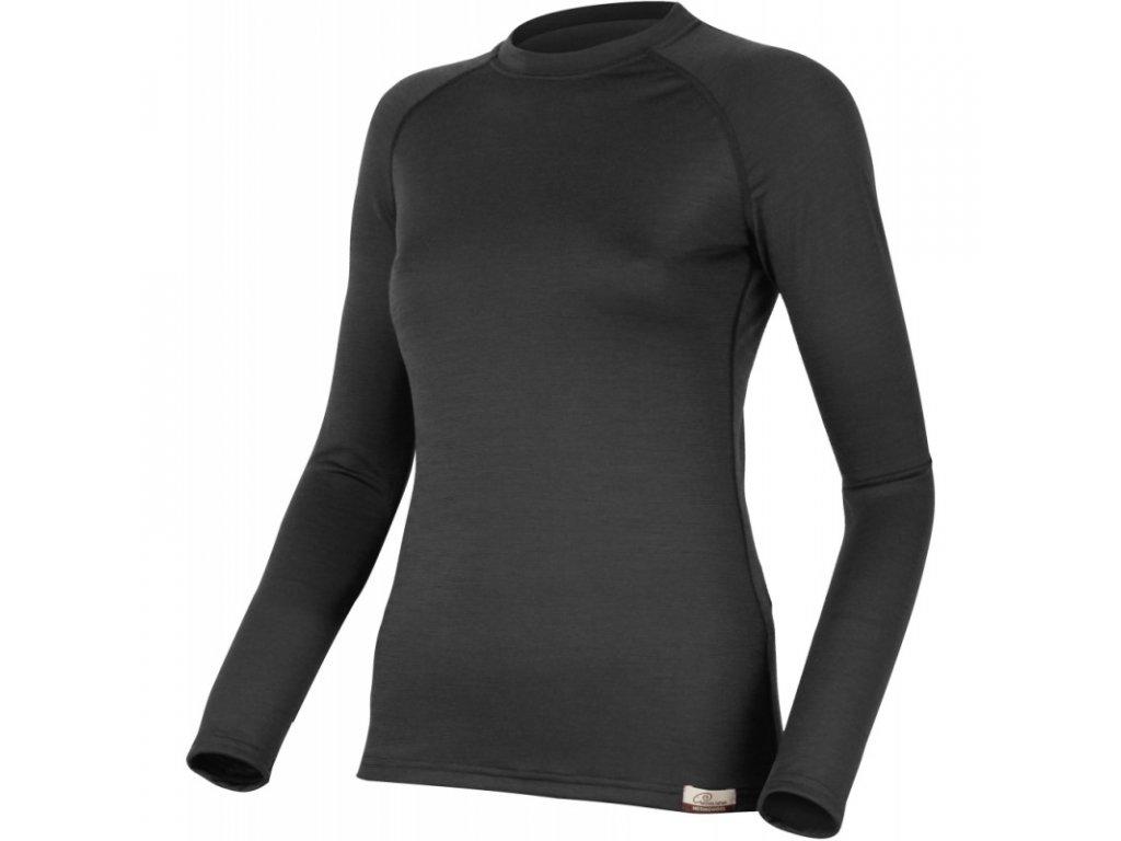 Lasting dámské merino triko ATILA černé