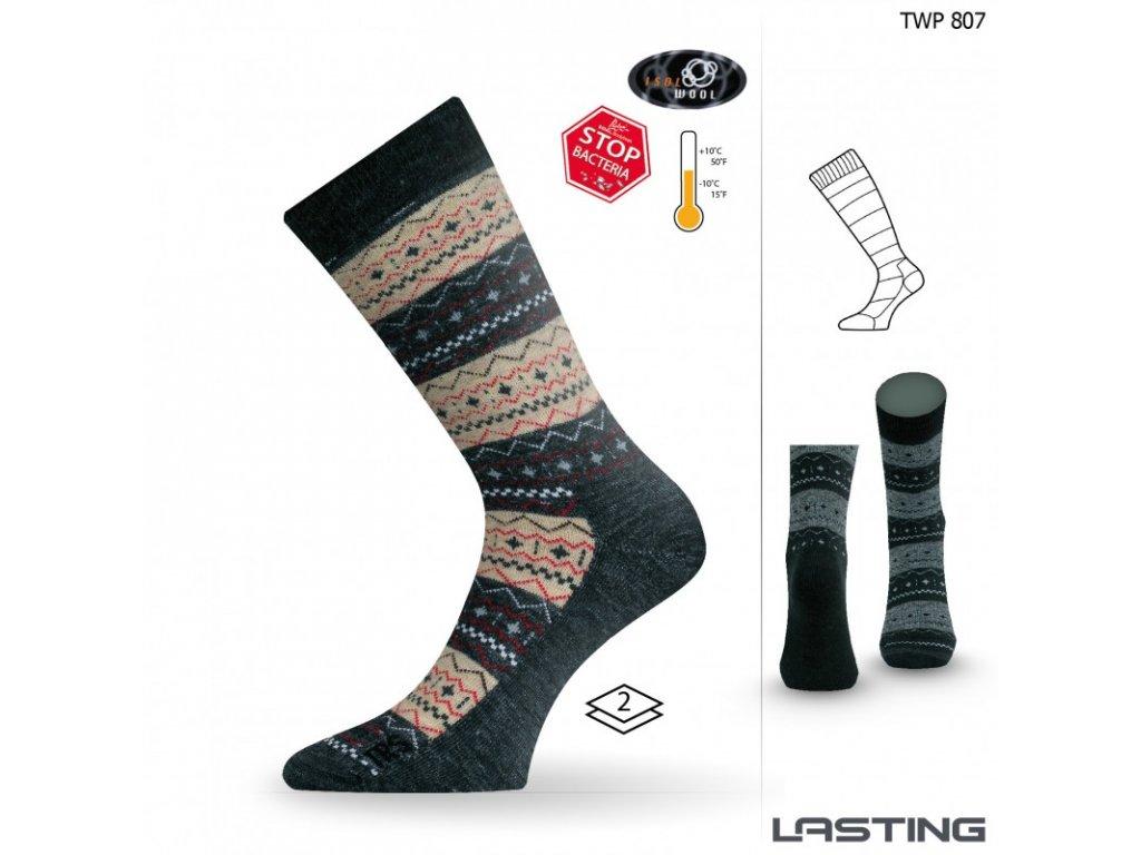 Lasting merino ponožky TWP béžové