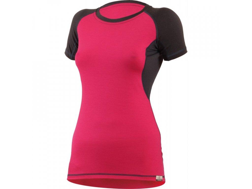 Lasting dámské merino tričko ZITA růžové