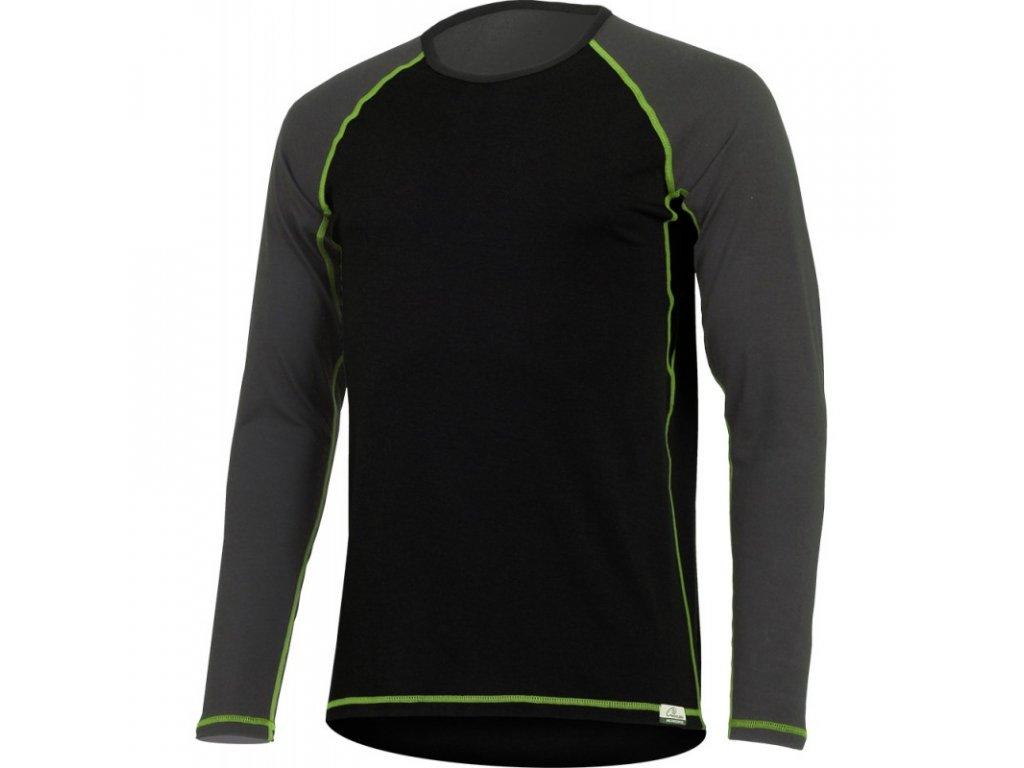 Lasting pánské merino triko MARIO černé
