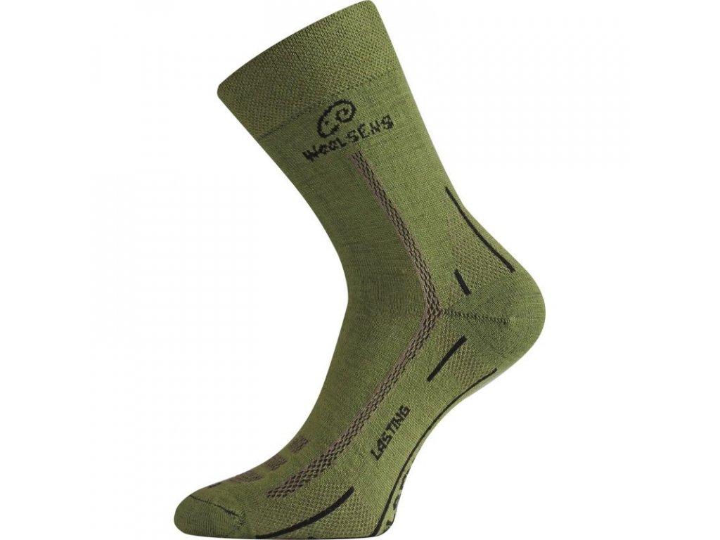 Lasting merino ponožky WLS zelené