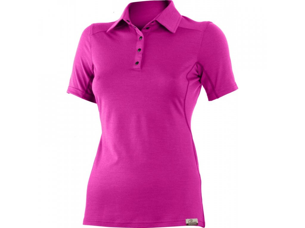 Lasting dámská merino polo košile ALISA růžová