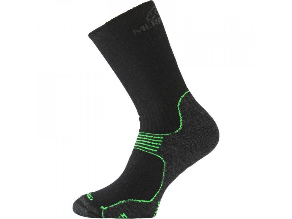 Lasting merino ponožky WSB černé