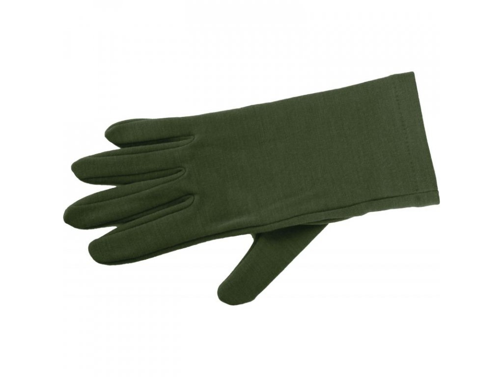 Lasting merino rukavice ROK  zelené