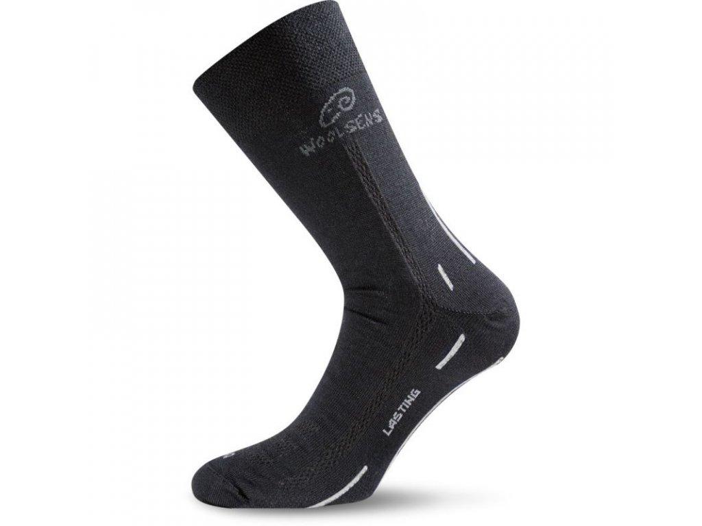 Lasting merino ponožky WLS černé
