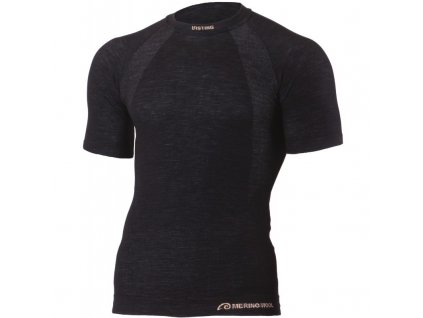 Lasting pánské merino bezešvé triko WABEL černé