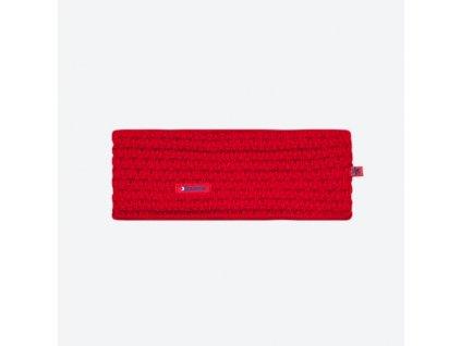 Pletená Merino čelenka Kama C36, červená