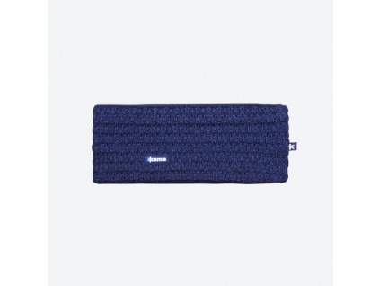 Pletená Merino čelenka Kama C36, modrá