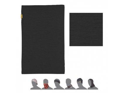 SENSOR TUBE MERINO WOOL multifunkční šátek černý
