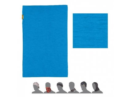 SENSOR TUBE MERINO WOOL multifunkční šátek modrý
