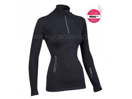 ORTOVOX dámské triko Merino COMPETITION LS Zipper W, černé